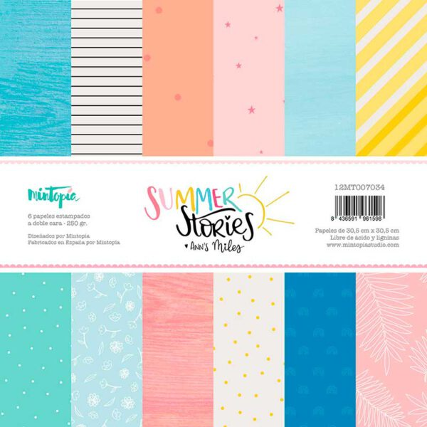 Stack papeles básicos 12″x12″ SUMMER STORIES