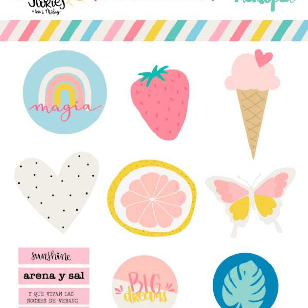 Set de formas de Metacrilato Summer Stories