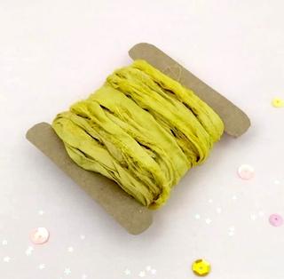 Cinta «Sari» de Seda natural «Amarillo limón»