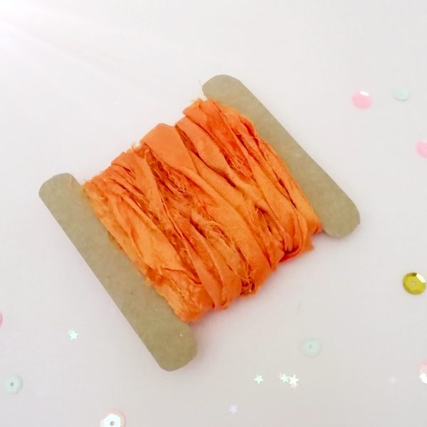 Cinta «Sari» de Seda natural «Naranja»