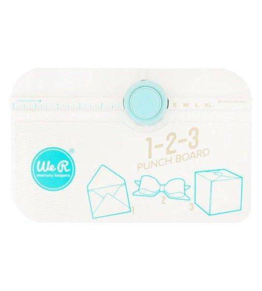 1 2 3 Punch Board Blanca