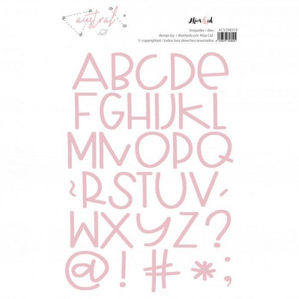 Troquel Austral Alfabeto
