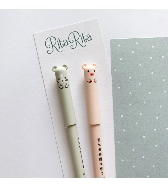 Pack bolígrafos borrables fauna