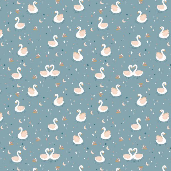 Tela de encuadernar Wilma Moon 35×50 cm Cisnes