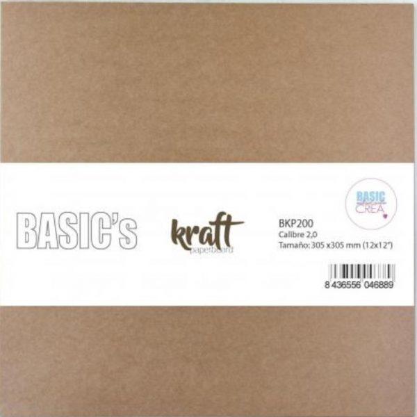 Portada de cartón Kraft 12×12″ de 2 mm