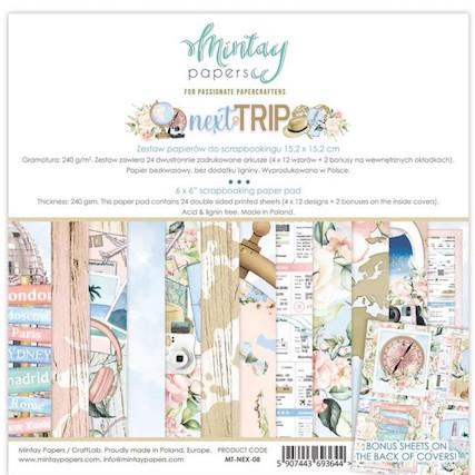 Pad 6″x6″- Next Trip de Mintay by Karola
