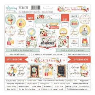 Cardboard Stickers Childhood 12×12 de Mintay by Karola