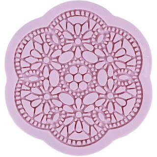 Molde Silicona Mandala flores Artis Decor