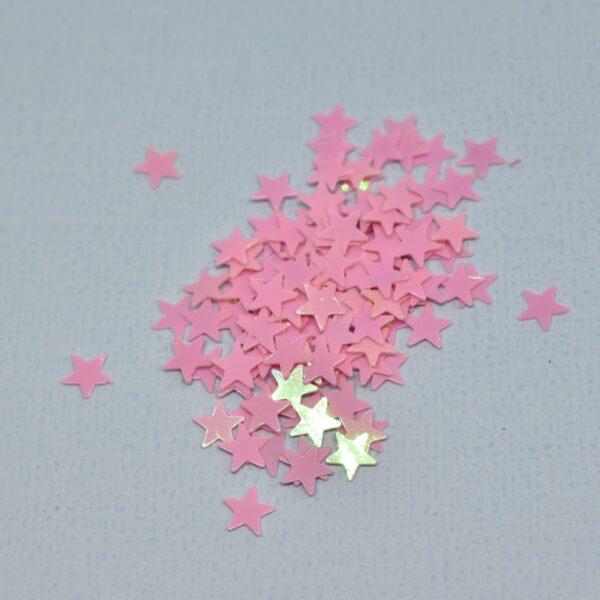 Lentejuelas Mini Estrella Rosa