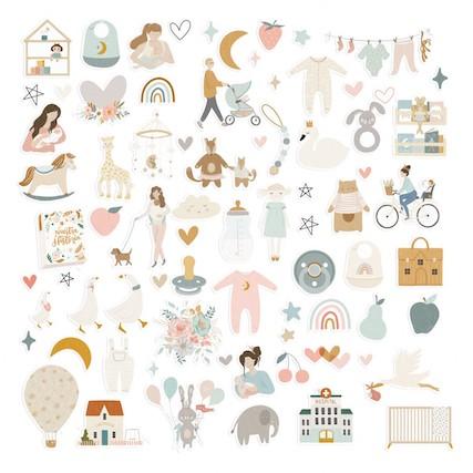Die Cuts Ilustraciones BABY M